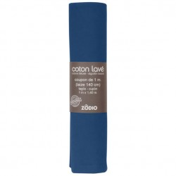Coton lavé 100x130cm - Marine