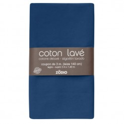 Coton lavé 300x130cm - Marine