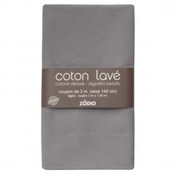 Coton lavé 300x130cm - Gris