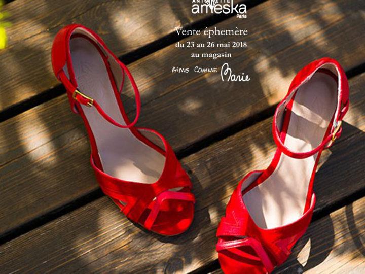 Vente éphémère – Antoinette Ameska shoes PE18